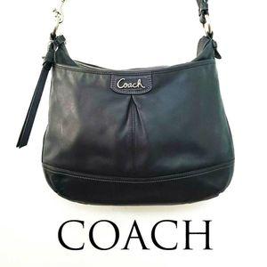 Coach Park Black Leather Duffle Bag F19726